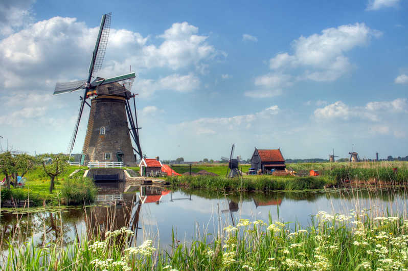 Country side and windmills