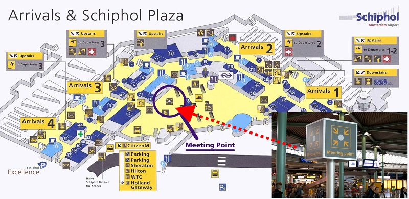Meetingpoint schiphol taxi